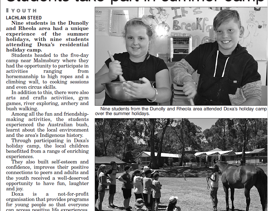 Maryborough Advertiser – Students Take Part In Summer Camp